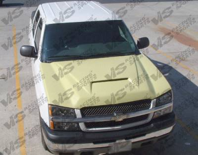 Avalanche - Hoods - VIS Racing - Chevrolet Avalanche VIS Racing Fiberglass Outlaw Type 1 Hood - 02CHAVA4DOL1-010