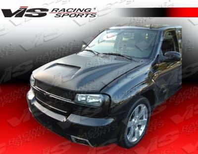Trail Blazer - Hoods - VIS Racing - Chevrolet Trail Blazer VIS Racing Fiberglass Outlaw Type 1 Hood - 02CHTRB4DOL1-010