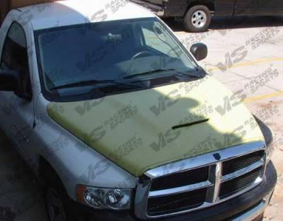 Ram - Hoods - VIS Racing - Dodge Ram VIS Racing Fiberglass Outlaw Type 1 Hood - 02DGRAM2DOL1-010