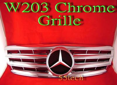 Grilles - Custom Fit Grilles - Custom - W203 Chrome Grille