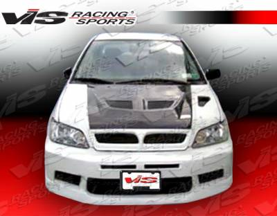 Lancer - Hoods - VIS Racing - Mitsubishi Lancer VIS Racing EV-7 Conversion Black Carbon Fiber Hood - 02MTLAN4DGT-010C