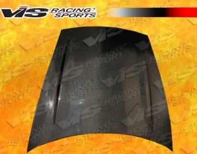 Cayenne - Hoods - VIS Racing - Porsche Cayenne VIS Racing Turbo Black Carbon Fiber Hood - 02PSCAY4DTUR-010C