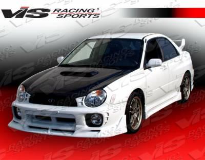 WRX - Hoods - VIS Racing. - Subaru WRX VIS Racing OEM Black Carbon Fiber Hood with Scoop - 02SBWRX4DOE-010C