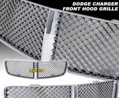 Grilles - Custom Fit Grilles - Custom - Bentley Style Charger Grille