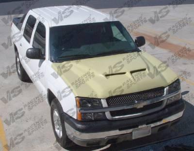 Silverado - Hoods - VIS Racing - Chevrolet Silverado VIS Racing Fiberglass Outlaw Type 2 Hood - 03CHSIL2DOL2-010
