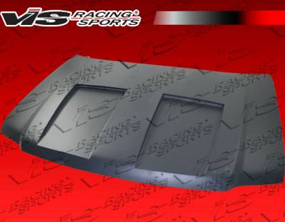 Expedition - Hoods - VIS Racing - Ford Expedition VIS Racing Fiberglass Double Scoop Vented Hood - 03FDEXP4DDSV-010