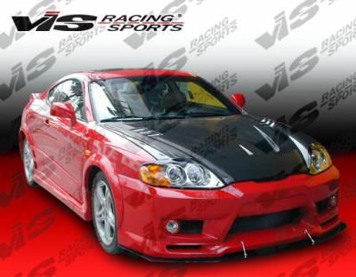 Tiburon - Hoods - VIS Racing - Hyundai Tiburon VIS Racing Cyber Black Carbon Fiber Hood - 03HYTIB2DCY-010C