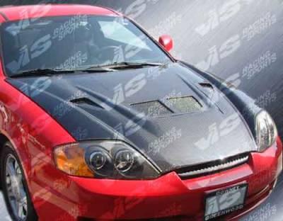 Tiburon - Hoods - VIS Racing - Hyundai Tiburon VIS Racing EVO Black Carbon Fiber Hood - 03HYTIB2DEV-010C