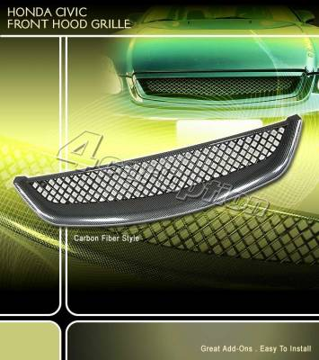 Grilles - Custom Fit Grilles - Custom - Carbon Black Grille