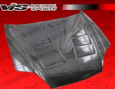 Tiburon - Hoods - VIS Racing - Hyundai Tiburon VIS Racing Terminator Black Carbon Fiber Hood - 03HYTIB2DTM-010C