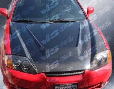 Tiburon - Hoods - VIS Racing - Hyundai Tiburon VIS Racing Invader Black Carbon Fiber Hood - 03HYTIB2DVS-010C