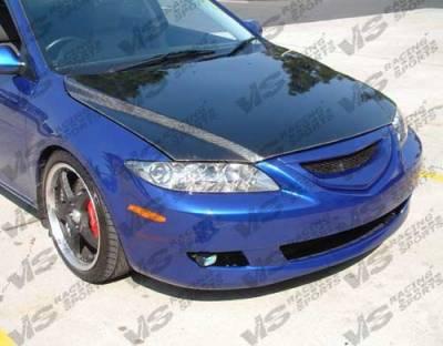 6 4Dr - Hoods - VIS Racing - Mazda 6 VIS Racing OEM Black Carbon Fiber Hood - 03MZ64DOE-010C