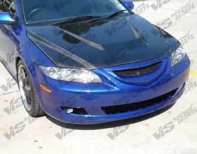 6 4Dr - Hoods - VIS Racing - Mazda 6 VIS Racing Invader Black Carbon Fiber Hood - 03MZ64DVS-010C