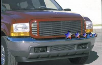 Grilles - Custom Fit Grilles - APS - Ford Excursion APS Billet Grille - Upper - Aluminum - F85086A