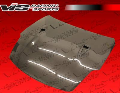 350Z - Hoods - VIS Racing - Nissan 350Z VIS Racing R35 Black Carbon Fiber Hood - 03NS3502DR35-010C