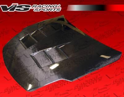 350Z - Hoods - VIS Racing - Nissan 350Z VIS Racing Terminator Black Carbon Fiber Hood - 03NS3502DTM-010C