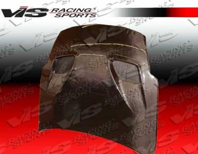 350Z - Hoods - VIS Racing - Nissan 350Z VIS Racing Terminator-2 Black Carbon Fiber Hood - 03NS3502DTM2-010C