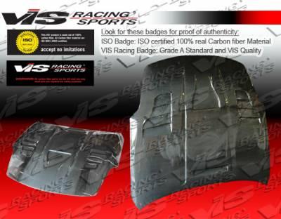 350Z - Hoods - VIS Racing - Nissan 350Z VIS Racing Invader-3 Black Carbon Fiber Hood - 03NS3502DVS3-010C