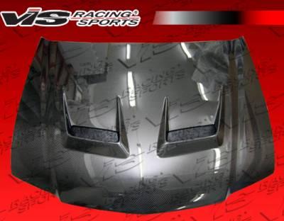TSX - Hoods - VIS Racing - Acura TSX VIS Racing JS Black Carbon Fiber Hood - 04ACTSX4DJS-010C