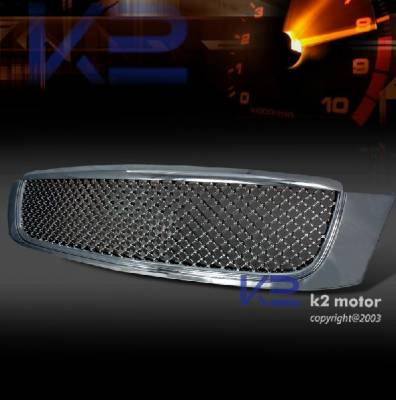 Grilles - Custom Fit Grilles - Custom - Deville Chrome Polished Mesh Grille