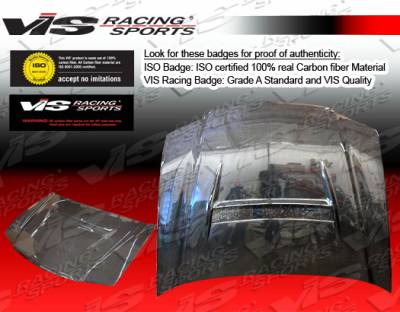 TSX - Hoods - VIS Racing - Acura TSX VIS Racing N1 Black Carbon Fiber Hood - 04ACTSX4DN1-010C