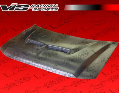 F150 - Hoods - VIS Racing - Ford F150 VIS Racing Fiberglass Outlaw Type 2 Hood - 04FDF152DOL2-010