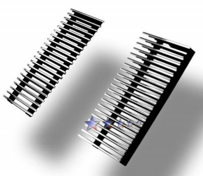Grilles - Custom Fit Grilles - APS - Ford F550 APS Billet Grille - Side - 2PC - Upper - Stainless Steel - F85088S