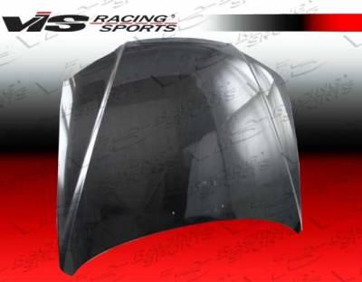 Elantra 4Dr - Hoods - VIS Racing - Hyundai Elantra 4DR VIS Racing OEM Black Carbon Fiber Hood - 04HYELA4DOE-010C