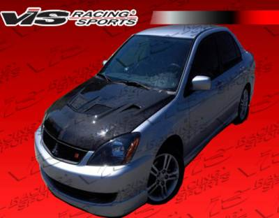 Lancer - Hoods - VIS Racing - Mitsubishi Lancer VIS Racing EVO Black Carbon Fiber Hood - 04MTLAN4DEV-010C