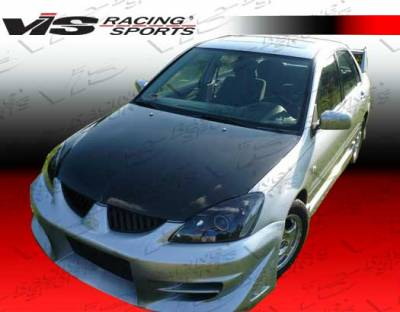 Lancer - Hoods - VIS Racing - Mitsubishi Lancer VIS Racing OEM Black Carbon Fiber Hood - 04MTLAN4DOE-010C