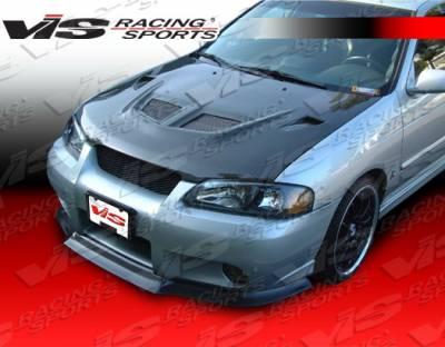 Sentra - Hoods - VIS Racing - Nissan Sentra VIS Racing EVO Black Carbon Fiber Hood - 04NSSEN4DEV-010C