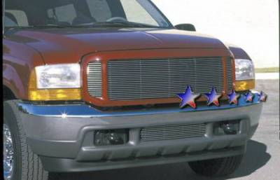 Grilles - Custom Fit Grilles - APS - Ford F350 APS Billet Grille - Center - Bumper - Stainless Steel - F85098S