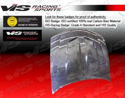 GTO - Hoods - VIS Racing - Pontiac GTO VIS Racing OEM Black Carbon Fiber Hood - 04PTGTO2DOE-010C