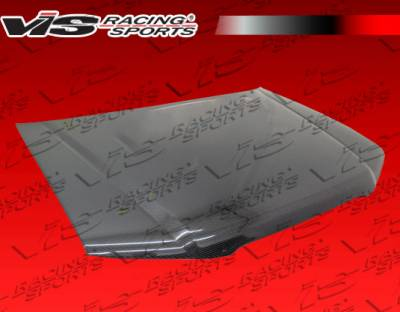 Forester - Hoods - VIS Racing. - Subaru Forester VIS Racing OEM Black Carbon Fiber Hood with Scoop - 04SBFOR4DOE-010C