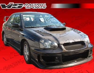 WRX - Hoods - VIS Racing - Subaru WRX VIS Racing Tracer Black Carbon Fiber Hood - 04SBWRX4DTRA-010C