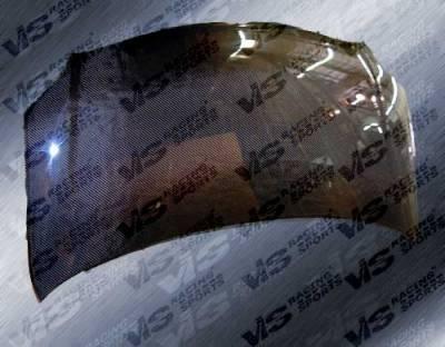 XA - Hoods - VIS Racing - Scion xA VIS Racing OEM Black Carbon Fiber Hood - 04SNXA4DOE-010C