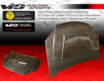 Cobalt 2Dr - Hoods - VIS Racing - Chevrolet Cobalt VIS Racing Invader-2 Black Carbon Fiber Hood - 05CHCOB2DVS2-010C