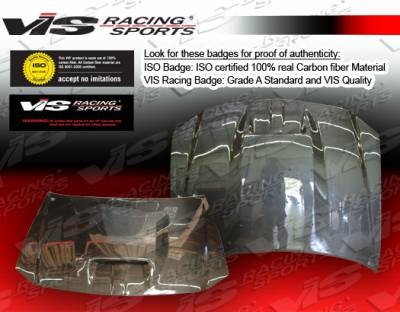 300 - Hoods - VIS Racing - Chrysler 300 VIS Racing SRT Fiberglass Hood - 05CY3004DSRT-010