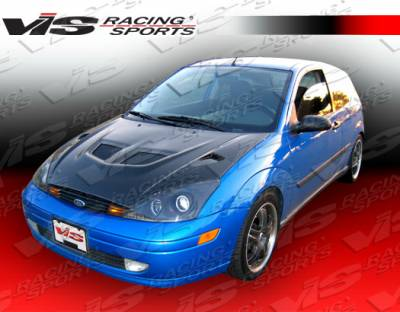 Focus ZX3 - Hoods - VIS Racing - Ford Focus VIS Racing EVO Black Carbon Fiber Hood - 05FDFOC2DEV-010C