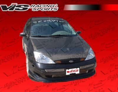 Focus ZX3 - Hoods - VIS Racing - Ford Focus VIS Racing OEM Black Carbon Fiber Hood - 05FDFOC2DOE-010C