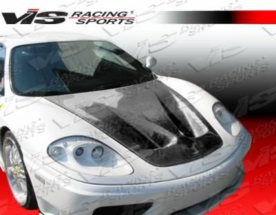 F430 - Hoods - VIS Racing - Ferrari F430 VIS Racing GT Black Carbon Fiber Hood - 05FR4302DGT-010C