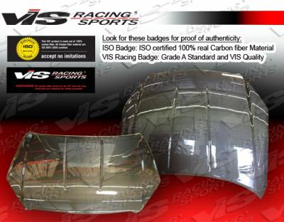 Altima - Hoods - VIS Racing - Nissan Altima VIS Racing OEM Black Carbon Fiber Hood - 05NSALT4DOE-010C