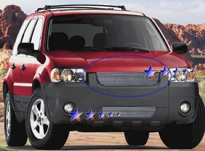 Grilles - Custom Fit Grilles - APS - Ford Escape APS Billet Grille - Upper - Stainless Steel - F85107S