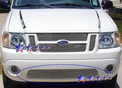 Grilles - Custom Fit Grilles - APS - Ford Explorer APS Billet Grille - Bumper - Aluminum - F85322A