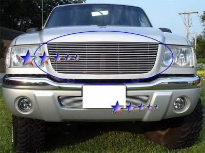 Grilles - Custom Fit Grilles - APS - Ford Ranger APS Billet Grille - Upper - Aluminum - F85324A