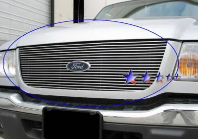 Grilles - Custom Fit Grilles - APS - Ford Ranger APS Billet Grille - Upper - Stainless Steel - F85324S