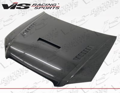 A4 - Hoods - VIS Racing - Audi A4 VIS Racing XTS Style Carbon Fiber Hood - 06AUA44DXTS-010C
