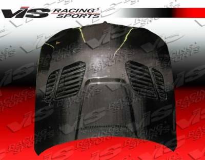 3 Series 4Dr - Hoods - VIS Racing - BMW 3 Series 4DR VIS Racing GTR Black Carbon Fiber Hood - 06BME904DGTR-010C