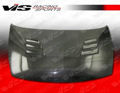 Civic 2Dr - Hoods - VIS Racing - Honda Civic 2DR VIS Racing Techno R Black Carbon Fiber Hood - 06HDCVC2DTNR-010C