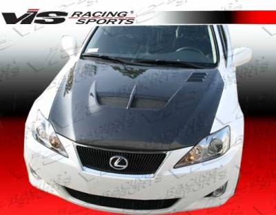 IS - Hoods - VIS Racing - Lexus IS VIS Racing Cyber Black Carbon Fiber Hood - 06LXIS34DCY-010C